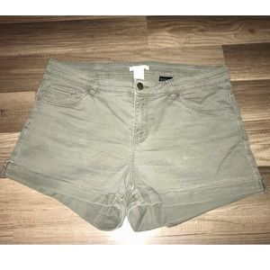 Olive Green H&M Shorts